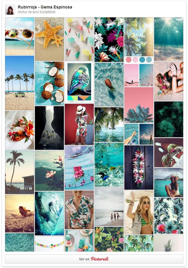 #AlohaVeranoIM, un Instameet temático y trasatlántico - Gema Espinosa - Rubirroja Moodboard